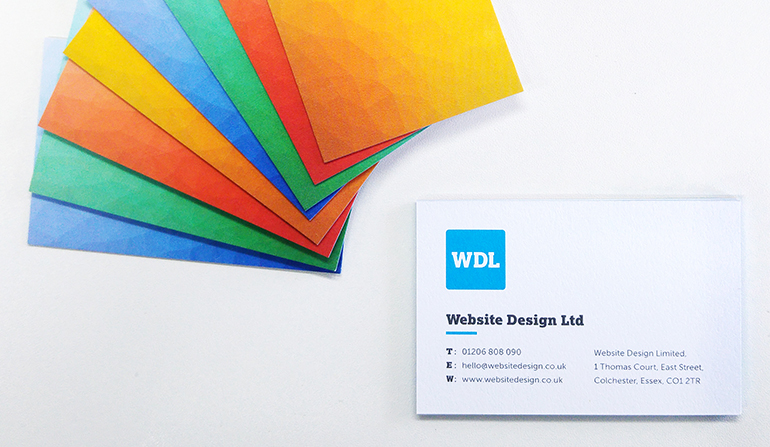 WDL Business Card Colour Background | Website Design Ltd